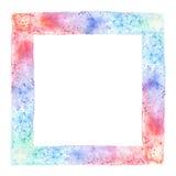 抽象传染媒介手拉的水彩背景 库存照片