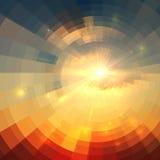 抽象传染媒介日出圈子技术 向量例证