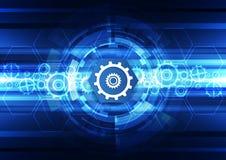 抽象传染媒介未来技术工程学背景例证 免版税图库摄影