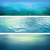 抽象传染媒介水横幅 皇族释放例证