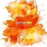 抽象传染媒介橙色水彩背景 免版税库存图片