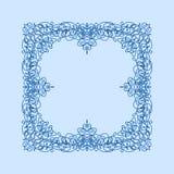 抽象传染媒介正方形装饰边框架 免版税库存图片