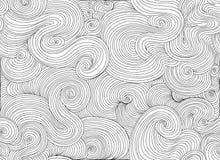 抽象传染媒介波浪无缝的样式 不尽的装饰纹理 免版税库存图片