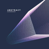 抽象传染媒介海报几何对象、线和明亮的点在一个最低纲领派样式 向量例证