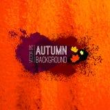 抽象传染媒介秋天手拉的背景 库存图片