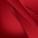 抽象传染媒介红色背景交叠层数和阴影-传染媒介 免版税库存图片