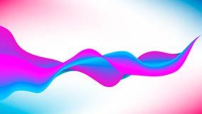 抽象传染媒介背景,蓝色和紫罗兰色挥动的线 免版税图库摄影