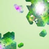 抽象绿色几何背景。 库存图片