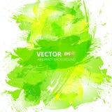 抽象传染媒介绿色水彩背景 图库摄影