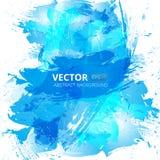 抽象传染媒介蓝色水彩背景 免版税库存照片