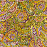 抽象传染媒介装饰手拉的自然花卉eamless样式 库存图片