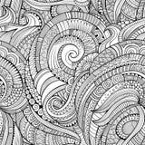 抽象传染媒介装饰手拉的自然花卉eamless样式 库存照片