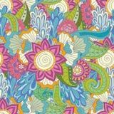 抽象传染媒介装饰种族花卉五颜六色 库存图片
