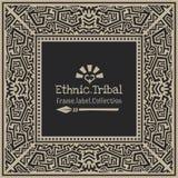 抽象传染媒介部族种族样式框架 免版税图库摄影