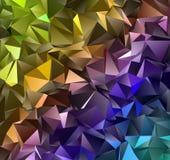 抽象低多三角现代背景 库存图片