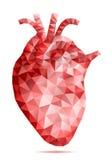 抽象低多人的心脏,传染媒介 免版税库存照片