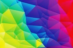 抽象低多生动的彩虹上色背景 免版税库存图片