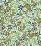 抽象佩兹利花卉样式 免版税库存照片
