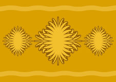 抽象例证向量黄色 库存例证