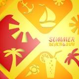 抽象例证夏天 明亮的海滩 免版税库存图片