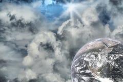 抽象例证星云空间starfield 免版税库存照片
