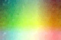 抽象例证绿色,蓝色,桔子和桃红色淡色小六角形背景 向量例证