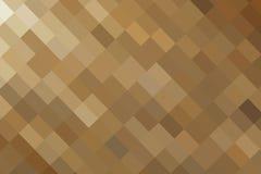 抽象例证金正方形 免版税库存图片