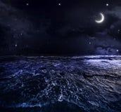 抽象例证闪电夜空 免版税库存图片