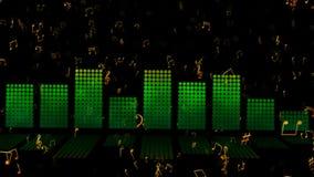 抽象例证音乐主题向量 股票录像