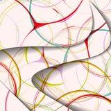 抽象例证,五颜六色的漩涡构成。 免版税库存照片