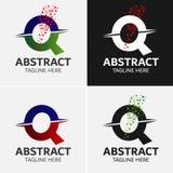 抽象信件Q商标模板 库存例证