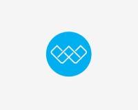 抽象信件W象字母表标志 免版税库存照片
