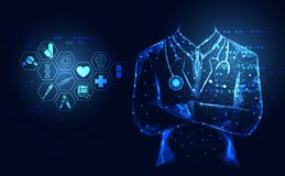 抽象健康医学医疗保健象数字式technolo 向量例证