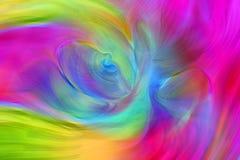 抽象充满活力和五颜六色的波浪背景 免版税库存照片