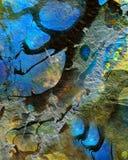 抽象充满活力的蓝色装饰墙壁纹理背景 免版税库存图片