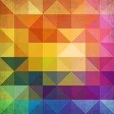 抽象充满活力的三角传染媒介背景 向量例证