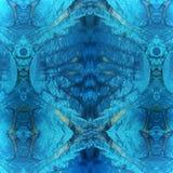 抽象充满活力的蓝色纹理,背景 库存图片