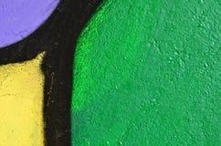 抽象充满活力的街道画片段 库存图片