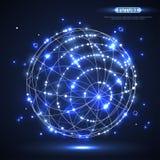 抽象光亮的传染媒介球形 免版税库存图片