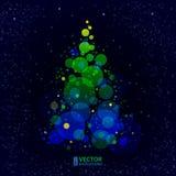 抽象光亮的圣诞树 免版税库存照片