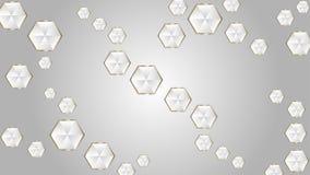 抽象光亮的金刚石在灰色背景中 向量例证
