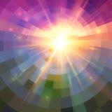 抽象光亮的马赛克传染媒介背景 库存照片