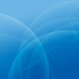 抽象光和蓝色波浪线背景 向量例证