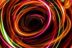 抽象光想象对在空间的黑洞 免版税图库摄影