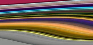 抽象光滑的金黄淡色生动的波浪线,对比抽象背景 库存图片
