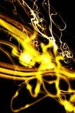 抽象光移动黄色 库存图片