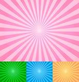 抽象光芒向量 免版税库存照片