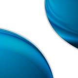 抽象光滑的蓝色在白色背景挥动 库存照片