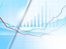 抽象光滑的蓝色报告盖子模板设计 免版税库存图片