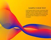 抽象光滑的颜色波向量 库存图片